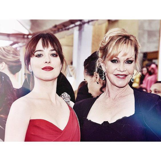 """Mother and daughter  #dakotajohnson"""