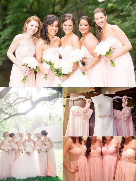 blush bridesmaid dresses 2014 wedding trend #tulleandchantilly #blushweddingdresses