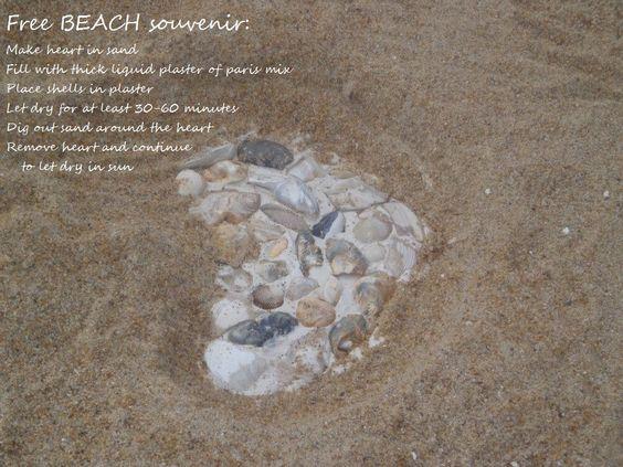 Free beach souvenir/beach activity ideas for kids