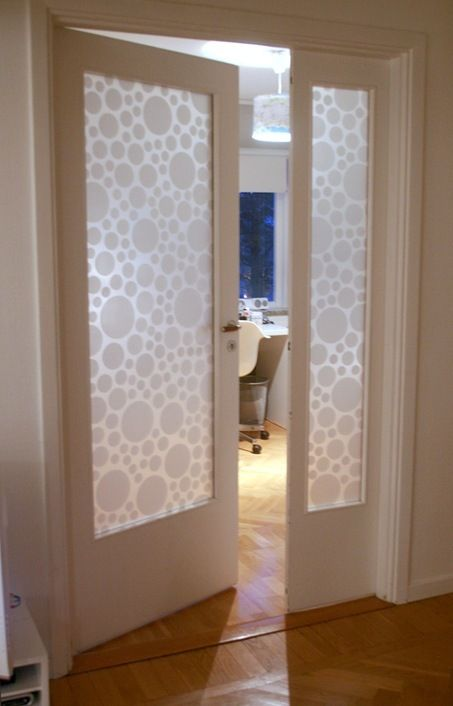 I39m doing this with giraffe print glass pattern for Frosted pocket bathroom doors
