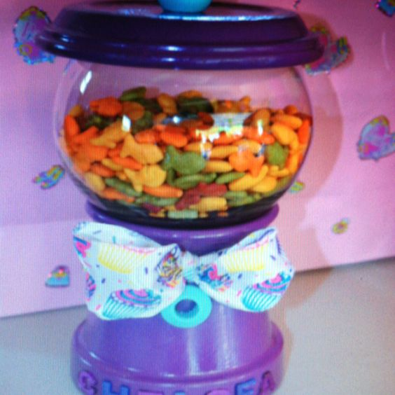 Filled with goldfish crackers!