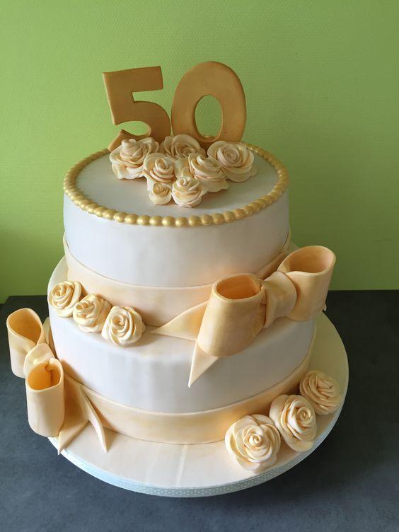 Cake gouden bruiloft
