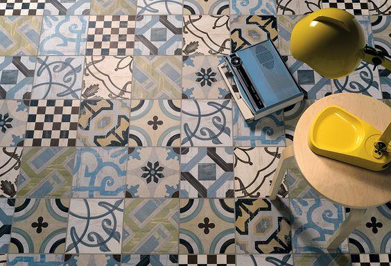 Cologie ceramica and carrelage mural on pinterest for Carrelage aspect carreau ciment