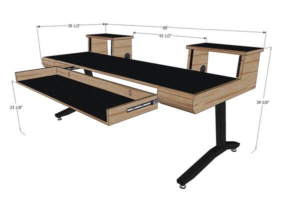 height adjustable music production desk martin u0026 ziegler meuble audio pinterest