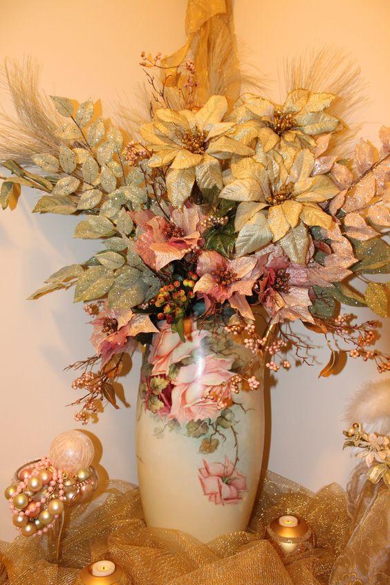 Christmas arrangement in Limoges vase 2013