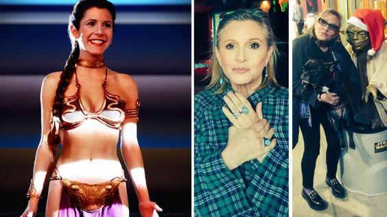 Carrie Fisher se quejó por las críticas a su aspecto en la nueva Star Wars. (Foto: Web)