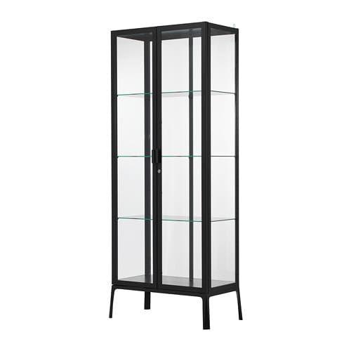 Ikea Milsbo White Glass Door Cabinet Bookshelves And