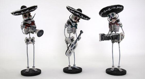 Katherine's 2013 Halloween Drop Dead Gorgeous Set Three Assort Miriachi Figurines