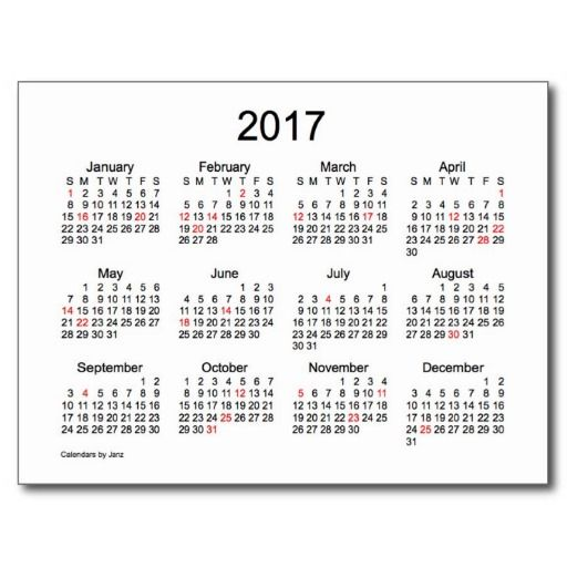 small monthly calendar 2018