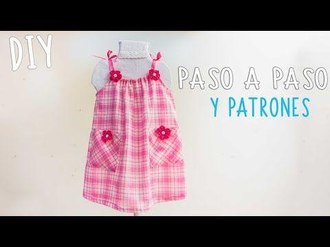Vestido Para Niña Facil Y Con Patrones Talla 2 A 8 Años Easy Dress For Girls Vestidos Para Niñas Costura De Vestidos De Niñas Patrones Para Vestidos De Bebé
