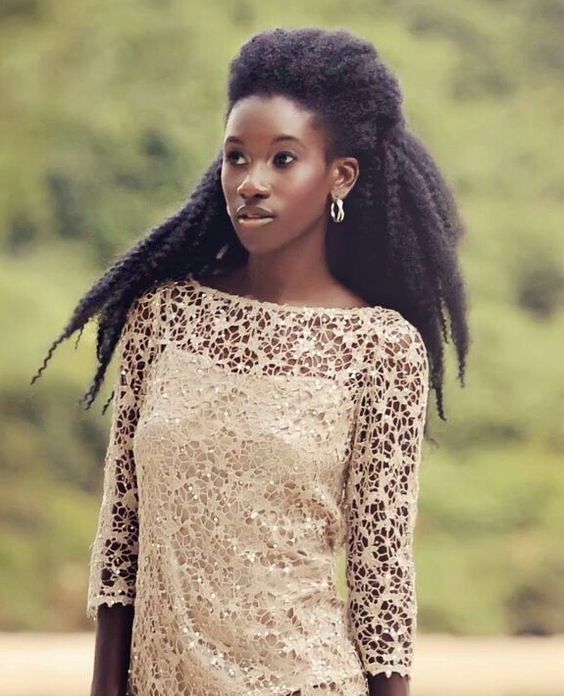 Natural Black Girl Fashion: My Hair Would Never Do This But Its Beautiful & Super Cool