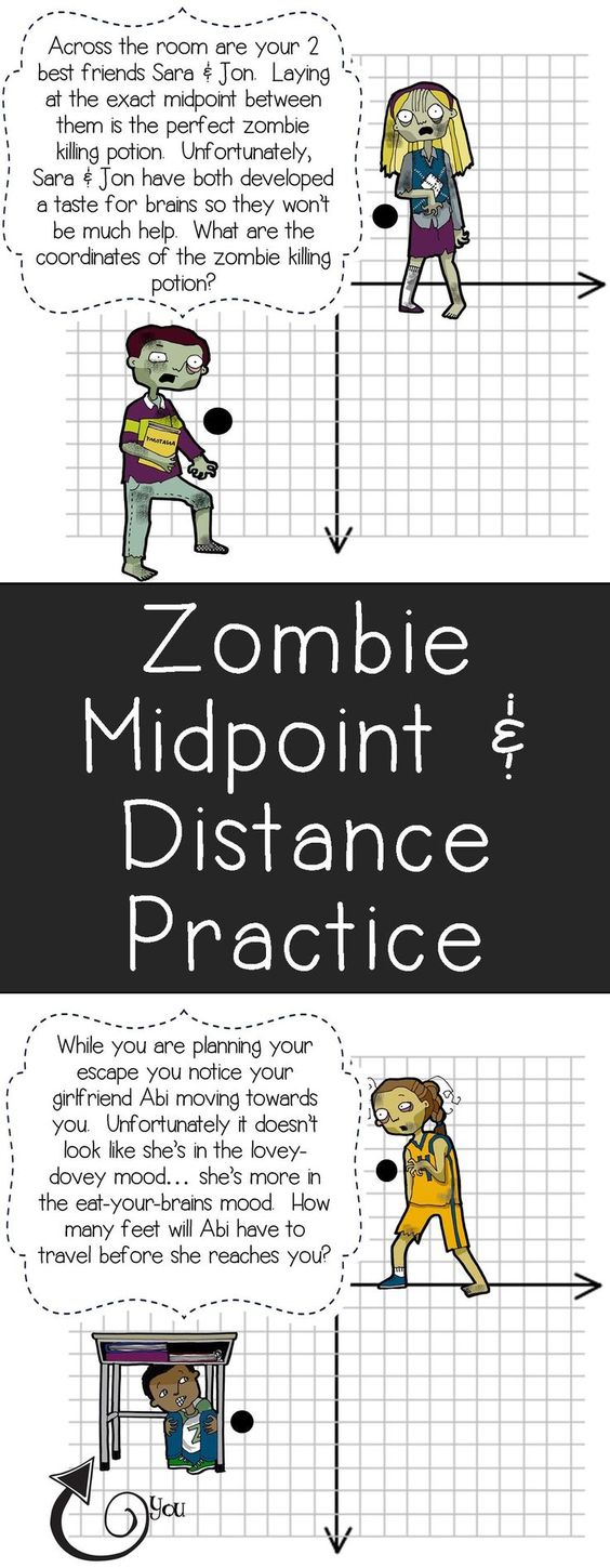 Worksheets Distance Formula Word Problems Worksheet midpoint distance formula activity activities and my students will love this zombie themed practice would be