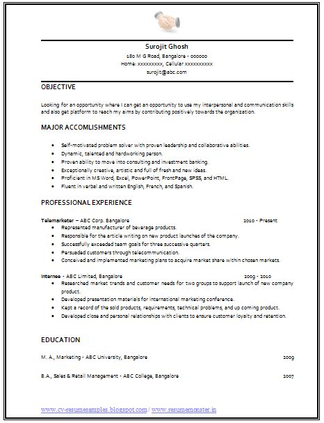professional curriculum vitae    resume template for all job seekers example template of an