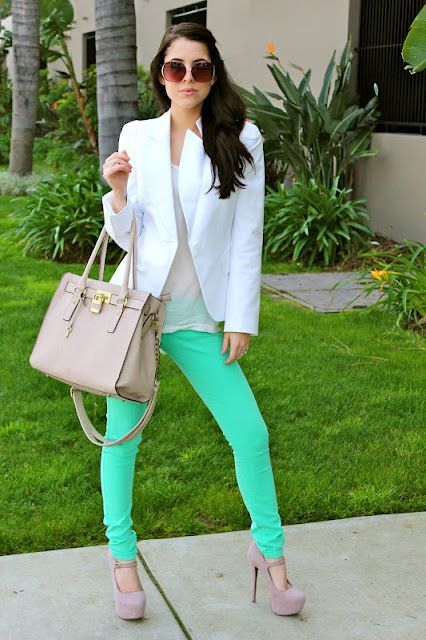 Need to own this outfit. Blazer.pants Minus the heals this mommy can't rock that and carry Collins