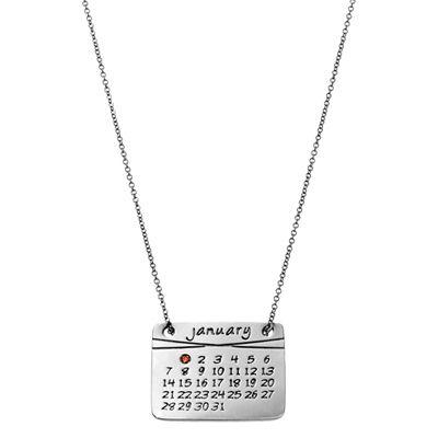 dalla nonna calendar necklace in sterling silver #calendarnecklace #personalized #custom