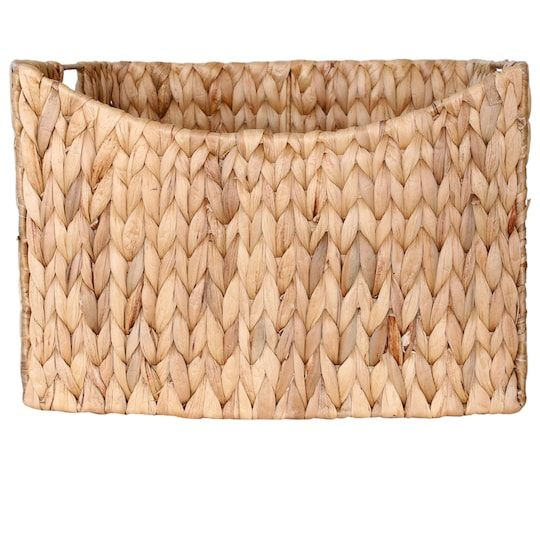 14 Water Hyacinth Rectangle Shelf Storage Basket By Ashland