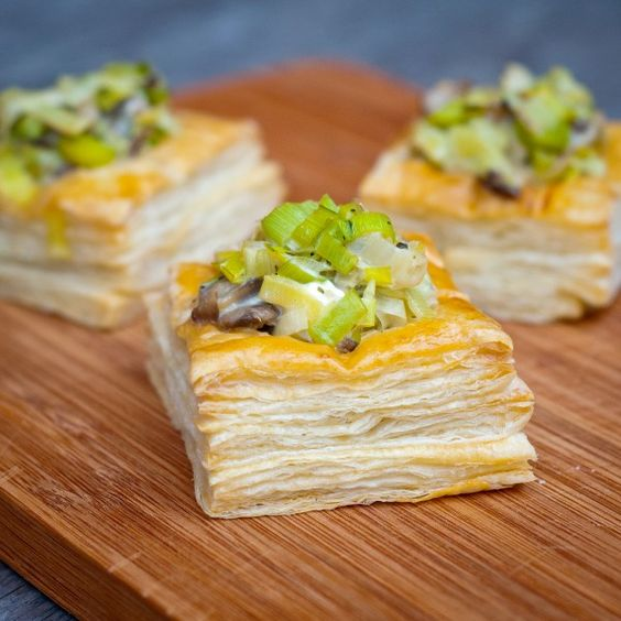 Creamy Leek and Mushroom Vol au Vents Recipe from Produce Made Simple
