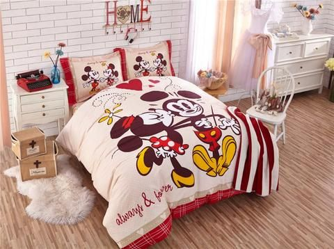 Mickey And Minnie Mouse Bedding Sets With Images Bedding Sets
