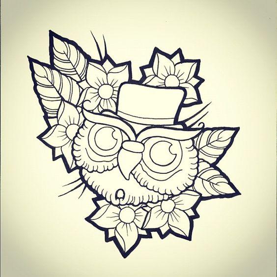 owl-tattoo-flash-art-119.jpg (612×612)