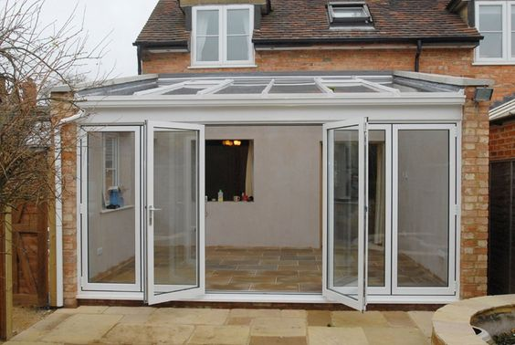 Lean To Conservatory With Double Doors Instead Of Bifold
