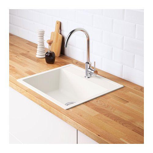 HÄLLVIKEN Inset sink, 1 bowl  - IKEA $359 56x50