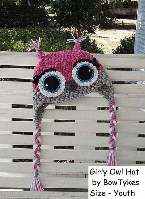 Hooty Owl Hat - CROCHET PATTERN