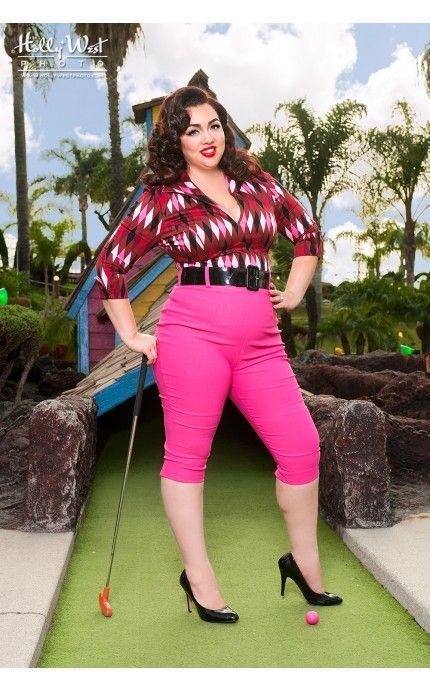 High Waisted Capris Plus Size - The Else