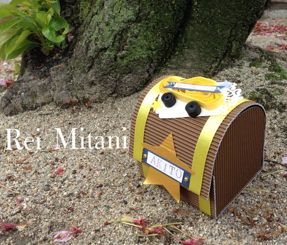 paper treasure chest #reimitani #paperbockle