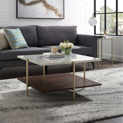 Null Gold Coffee Table Faux Marble Coffee Table Coffee Table
