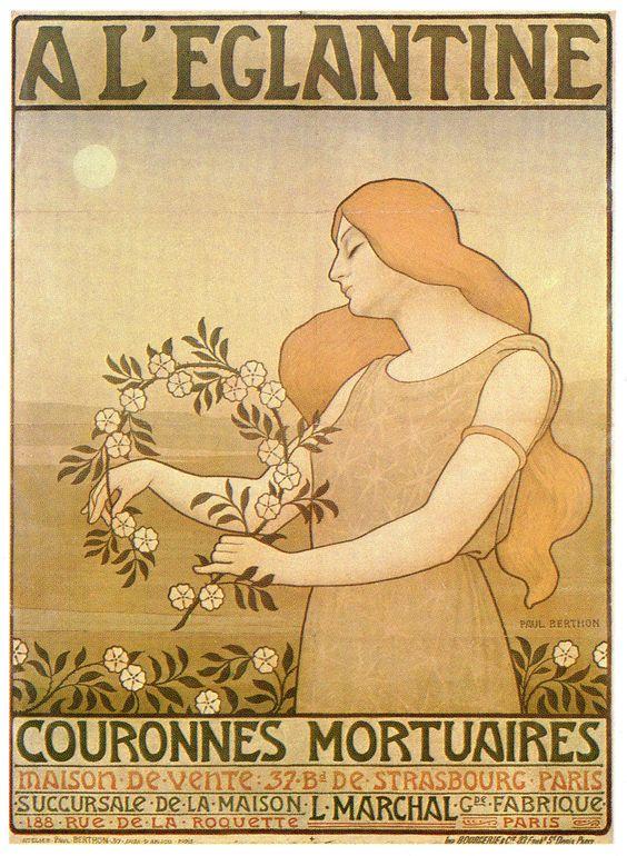 Art-Poster-Advertisement-A-LEglantine-Couronnes-Mortuaires.jpg (1092×1492)
