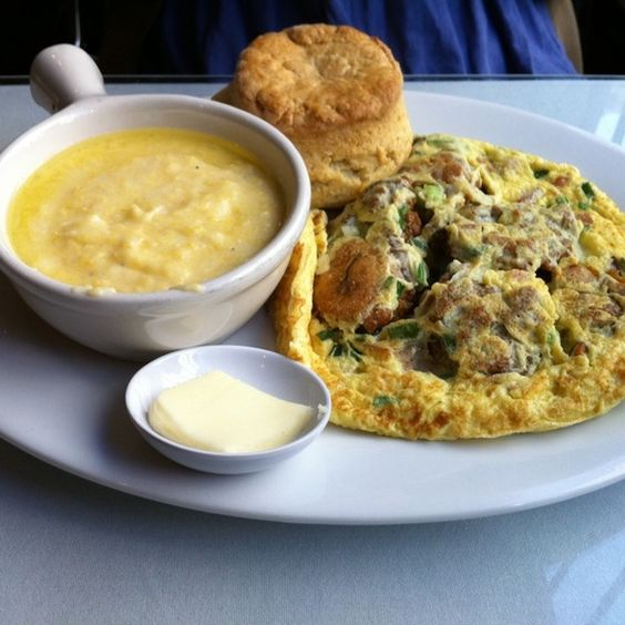 hangtown fry @ Brendas French Soul Food in SF.   Diner/Bistro/cafe ...