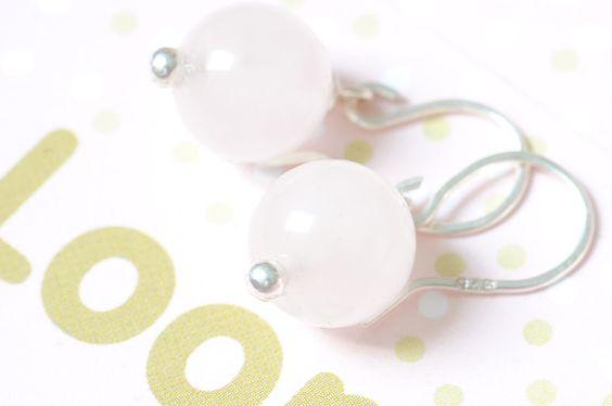 Ohrhänger - Ohrringe Ohrhänger 925er Rosenquarz - ein Designerstück von sgiese…