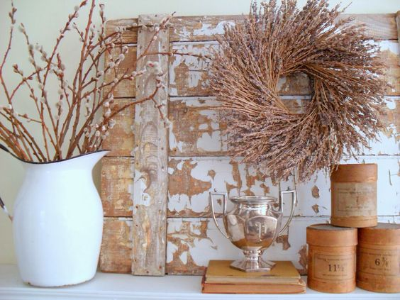 must love junk: Winter Mantel: Today Projects, Mantel Decorating, Decorating Ideas, Winter Wonderland, Shabby Chic Farmhouse Cottage, Junk Winter, Decor Shabby