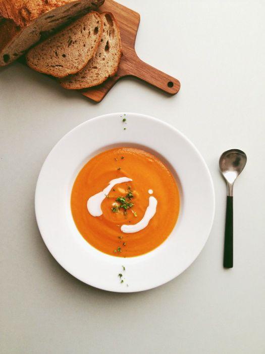 金時人参のスープ