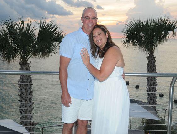 Scott & Rachelle at the luxurious Opal Sands in Clearwater Beach #simpleweddingsflorida