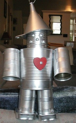 Tin man with cans crafts pinterest gardens boys and for Tin can tin man craft