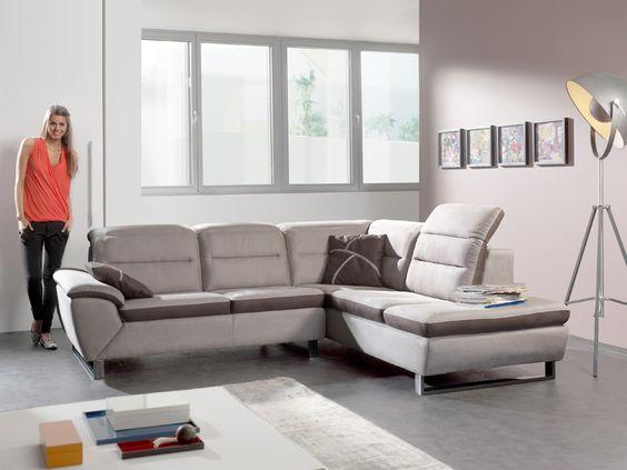 Sipho notre salon d 39 angle en tissu vous laisse profiter du style meu - Salon modulable tissu ...