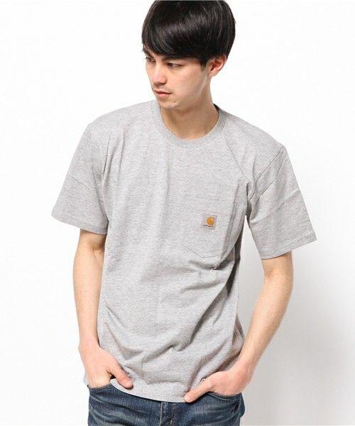 Carhartt WIP(カーハート ダブリューアイピー)のS/S POCKET T-SHIRT(Tシャツ/カットソー)|グレー