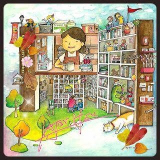 Taiwan's bookstore#1  Illustration 2015 | AJar Hsu | 徐佳伶