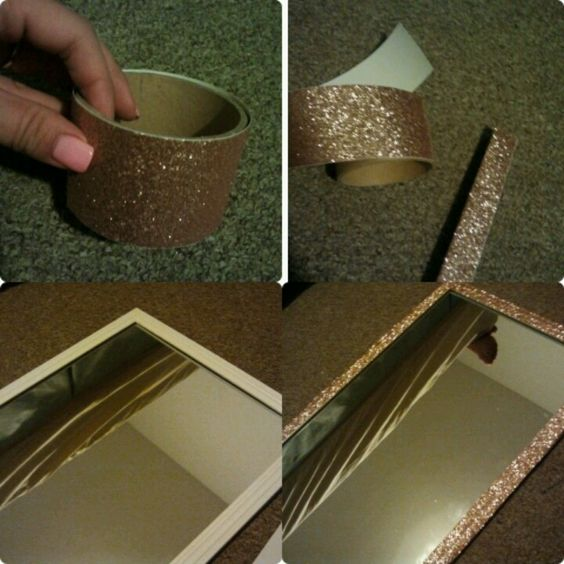 Fit Crafty Stylish And Happy Guest Bathroom Makeover: Cheap Quik Fancy Mirror