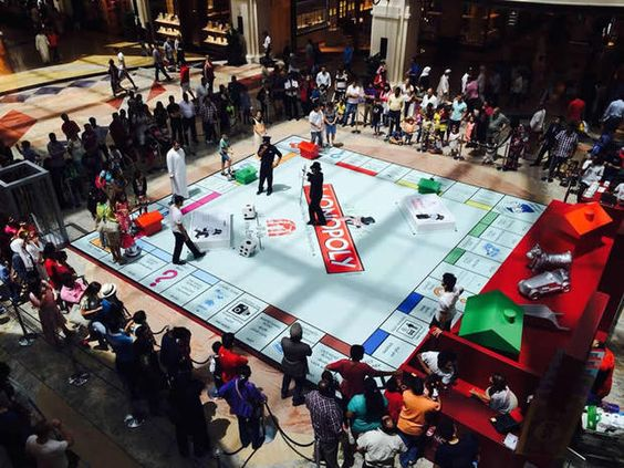 Life-size version of Monopoly