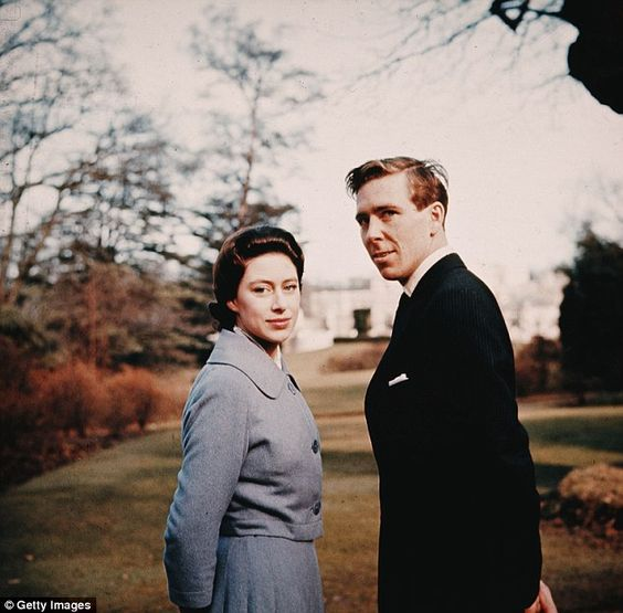 Princess Margaret  and Antony Armstrong-Jones in the grounds of Royal Lodge after they announced their engagement