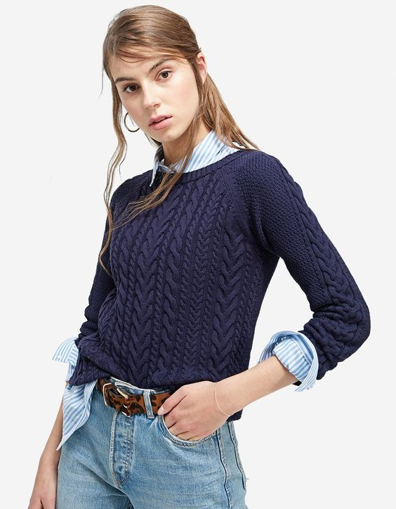 Pullover mit Zopfmuster Marineblau Jetzt bestellen unter: https://mode.ladendirekt.de/damen/bekleidung/pullover/sonstige-pullover/?uid=7b1da1af-95cf-5028-aa43-9adfca9b4d1c&utm_source=pinterest&utm_medium=pin&utm_campaign=boards #damenmode #sonstigepullover #strick #pullover #bekleidung