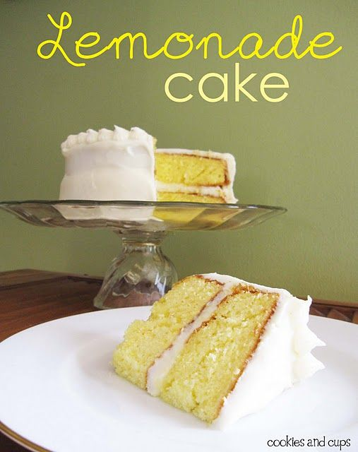 Lemonade cake with lemon cream cheese frosting
