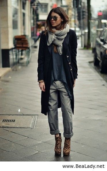 Germany fashion 2014 - this coat, scarf and shirt style <3