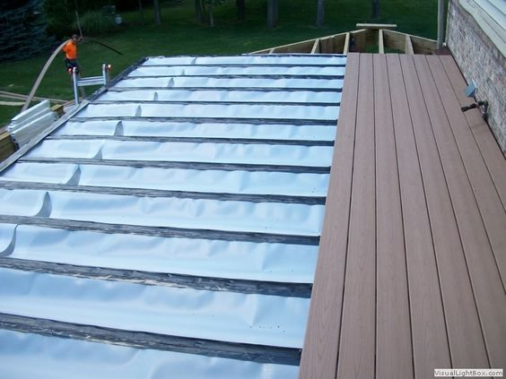 how to build a roof under a deck