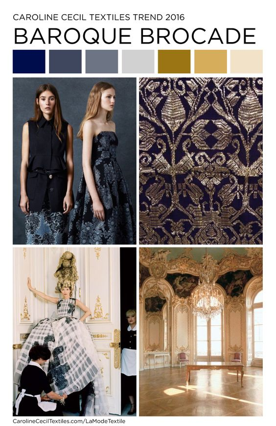Fashion megatrends 2017 - Carolinececiltextiles Interior Trend Inspiration Baroque