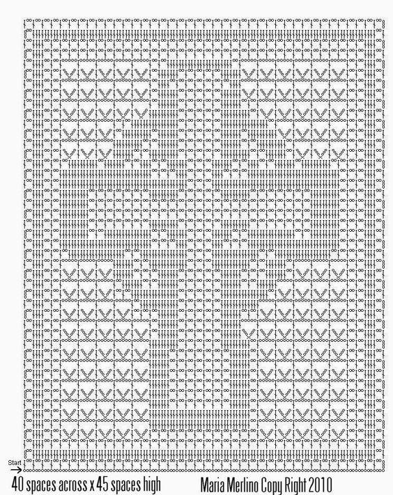 graficos tapete de croche retangular