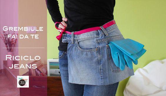 Grembiule fai da te riciclando i jeans