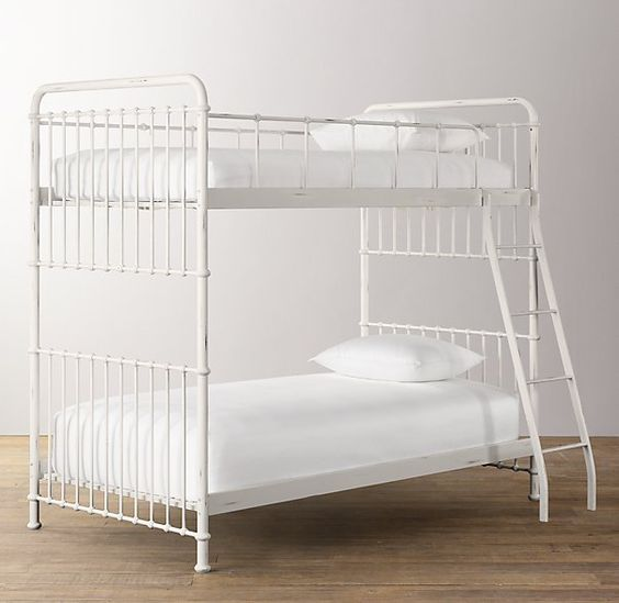 "$1000 Millbrook Iron Bunk Bed 56"" W x 80"" L X 70"" H clearance under bunk 71/2"""